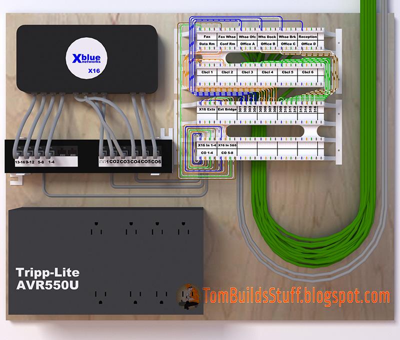 110 phone block wiring diagram