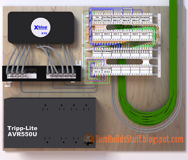 structured cabling wiring diagram receptacle x16 small business phone 110