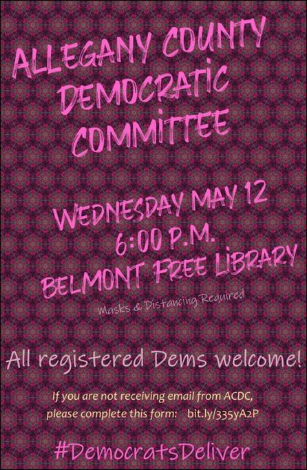 5-12 Allegany County Democratic Committee Meeting