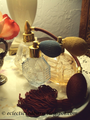 Eclectic Red Barn: Vintage Perfume Atomizers