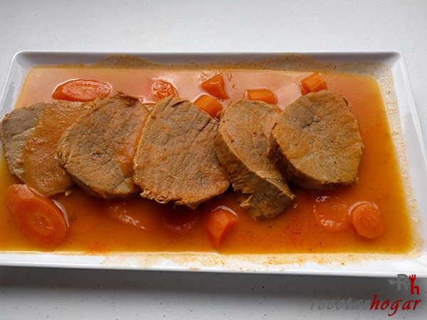 Cómo hacer redondo de ternera en salsa