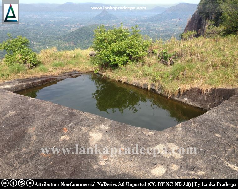 A rock cut pond at the top of the mountain, Govinda Hela