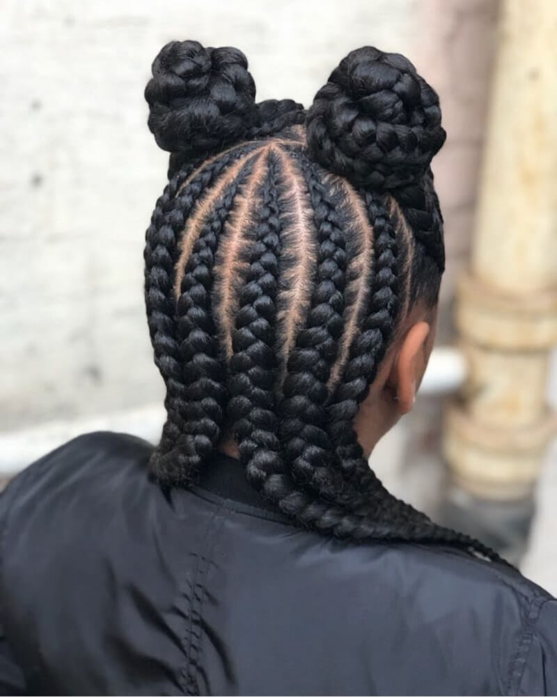 39+ Latest Cornrow Styles with Natural Hairstyles for Black Women To Copy - Fashionuki