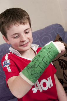 Wayne Rooney's warm up shot broke 9-year-old boy's wrist