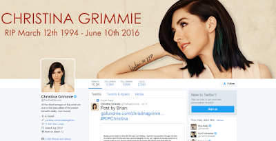 Grimmie's Twitter Page