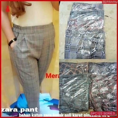 SPC123Z69 Zara Pants Terbaru Kotak Celana Wanita   BMGShop