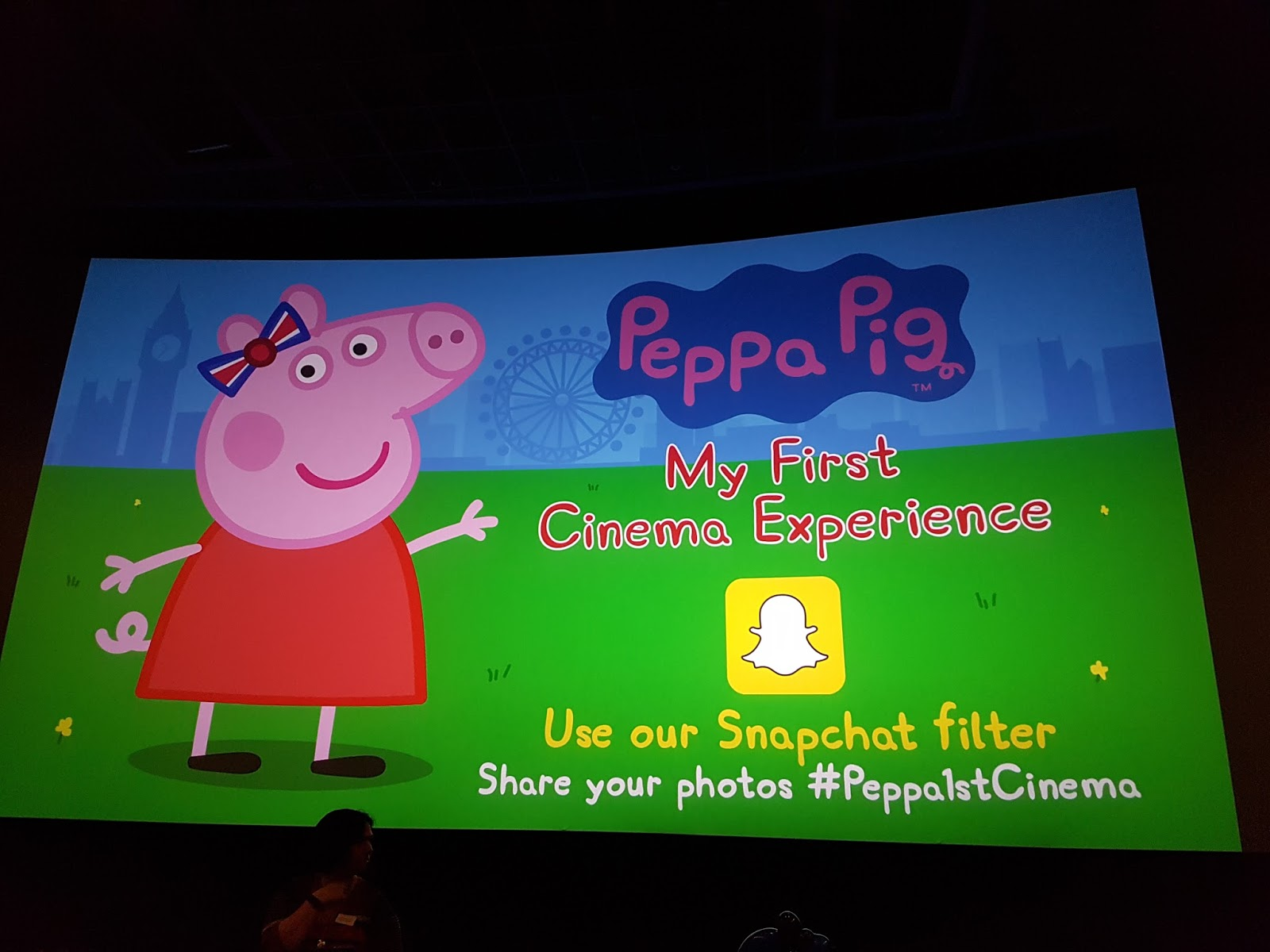 peppa pig film on screen