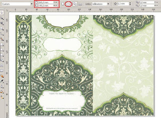 Download Settingan Blanko Undangan ERBA 88167 Versi CorelDRAW yang Bisa Diedit