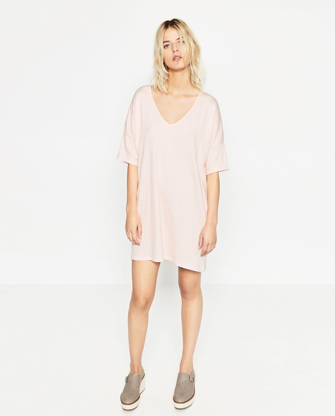 Zara blush dress