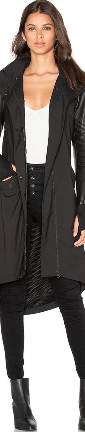 BLANC NOIR Drape Anorak Jacket