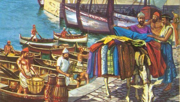 Recreación de comercio fenicio