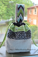 Drawstring Lunch Bag with Handle - TUTORIAL