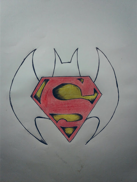 batman vs Superman logo tattoo