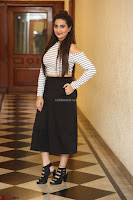 Manjusha in sleevelss crop top and black skirt at Darshakudu pre release ~  Exclusive Celebrities Galleries 107.JPG