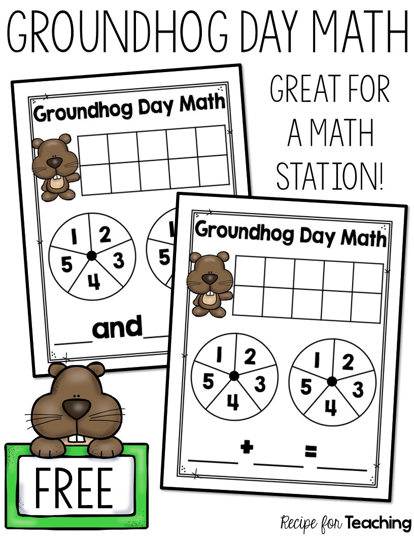 groundhog day math recipe for teaching
