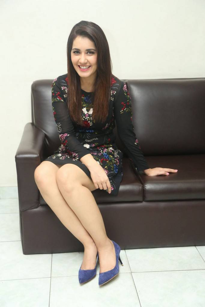 Raashi Khanna's Spicy Pics In Black Florak Skirt