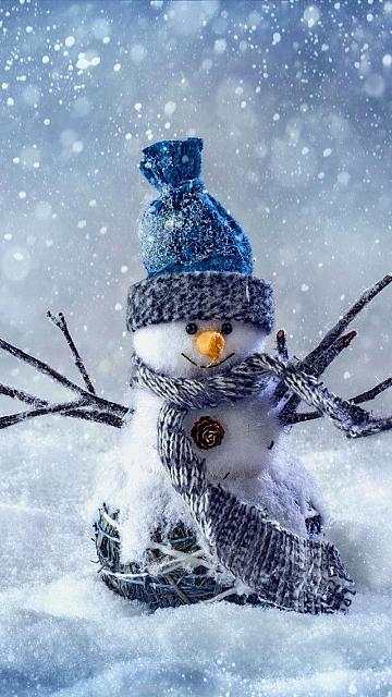 besplatne Božićne slike za mobitel 360x640 free download čestitke blagdani Merry Christmas snjegović