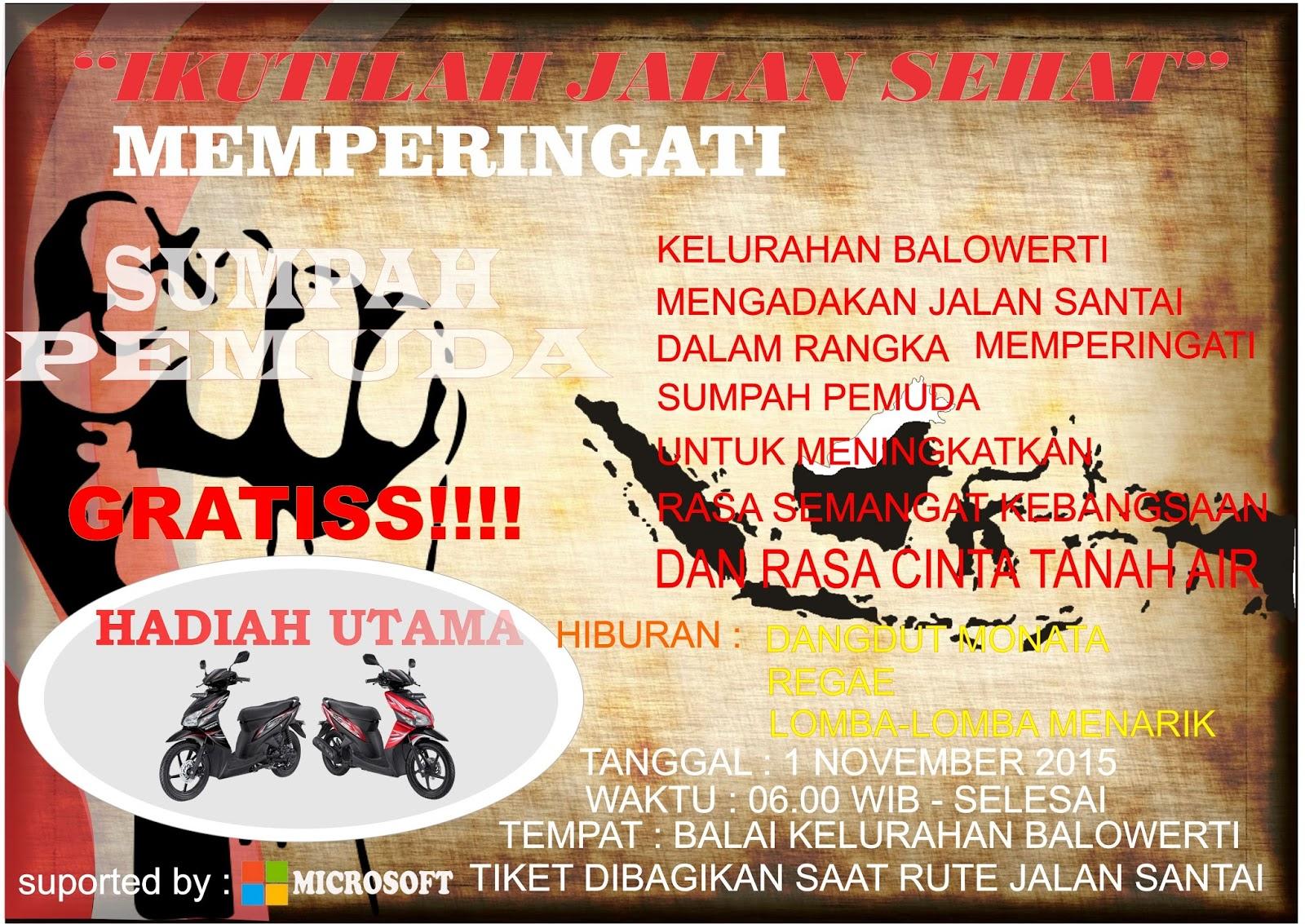 Seribu Film Contoh Poster Jalan Santai