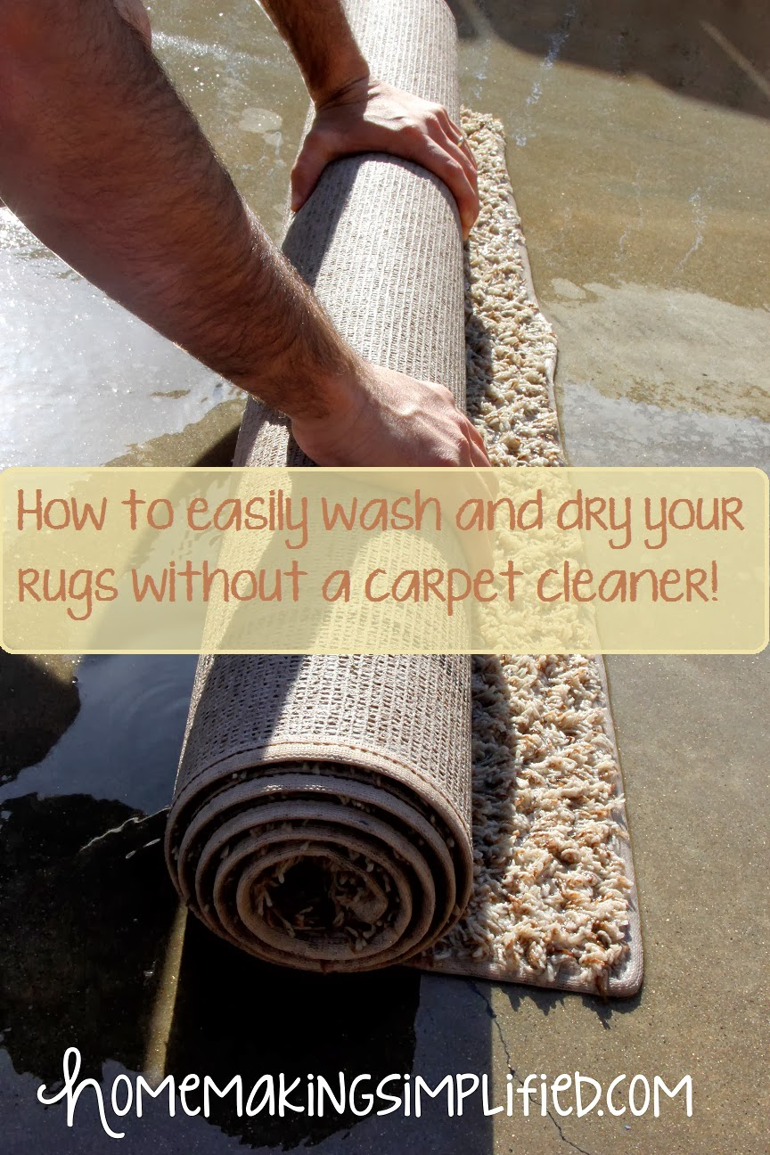 homemaking simplified how to easily wash and dry your rugs without a carpet cleaner. Black Bedroom Furniture Sets. Home Design Ideas
