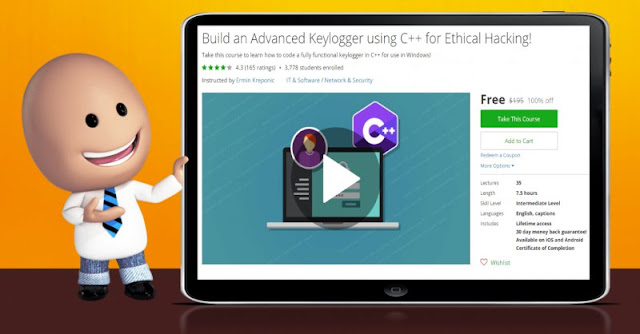 [100% Off] Build an Advanced Keylogger using C++ for Ethical Hacking!| Worth 195$