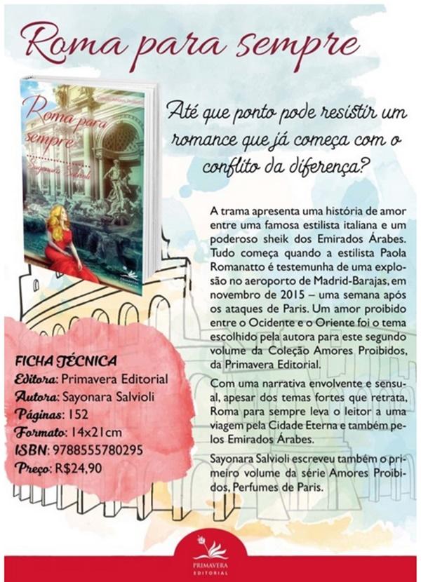 livro, roma-para-sempre, serie-amores-proibidos, primavera-editorial, amazon