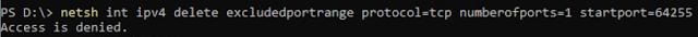 Delete 64255 port