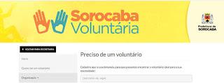 telefone programa sorocaba voluntaria