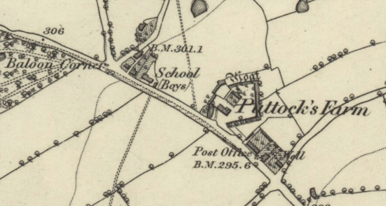 OS six-inch map published in 1883 showing Baloon (sic) Corner, Welham Green Image courtesy of the National Library of Scotland released under Creative Commons BY-NC-SA 4.0