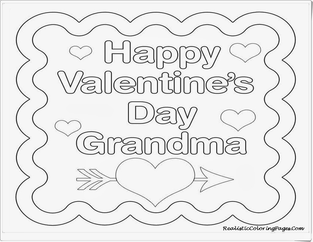 Happy Valentine Card For Grandma Coloring Pages