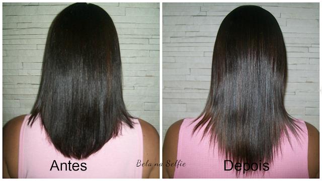 Antes e depois - pantogar -projeto cabelão - belanaselfie