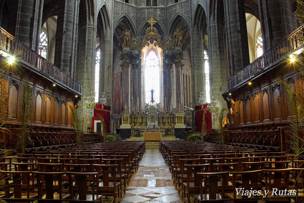 Interior de la Catedral de San Justo y San Pastor, Narbonne