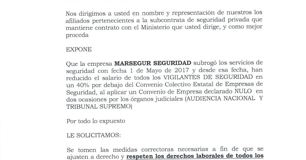 Sindicato SPV CARTA A LA EXCELENTISIMA SEÑORA MINISTRA