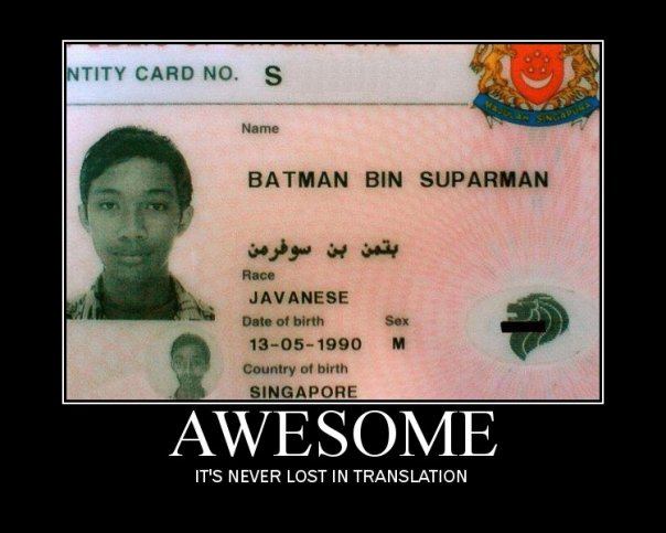 Some kid has an unfortunate Batman name
