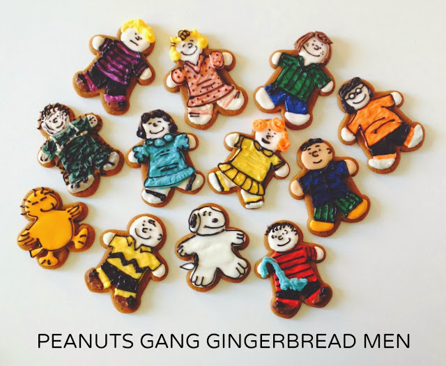 Peanuts Gang gingerbread men cookies