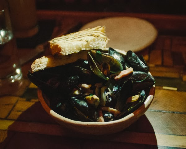 Mussels  at The Treehouse restaurant in Nashville Tennessee