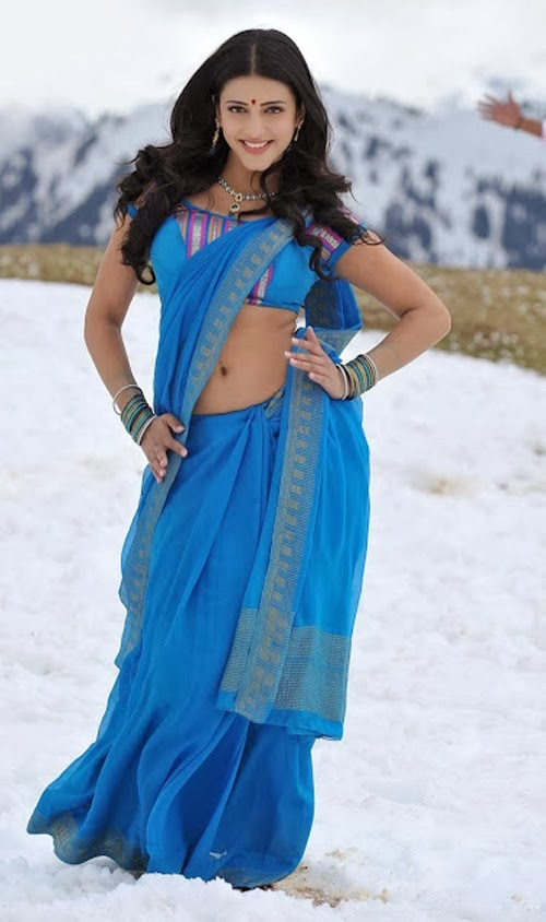Shruti Haasan Wear Saree Below Navel Show Photo