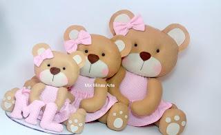 Trio de ursinhas para nicho