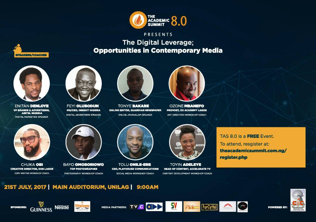 Unilag set to host the academic summit 8.0 on Friday 21st July, Dont Miss It for Any Reason