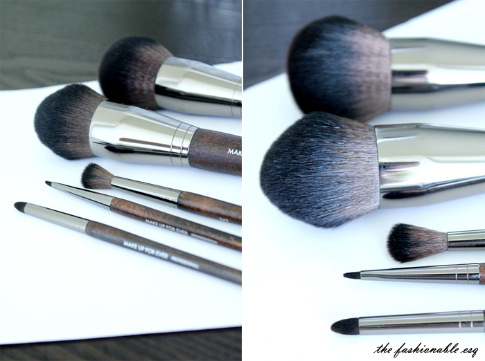 MUFE makeup brushes line