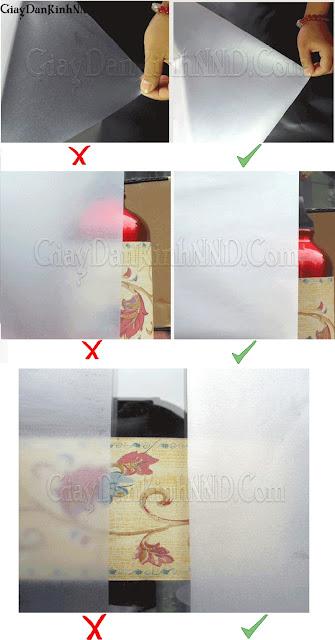 Cách nhận biết giấy dán kính chính hãng