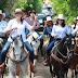 """En el """"tuch"""" de la campaña, Cecilia Patrón realiza cabalgata en Dzununcán"""