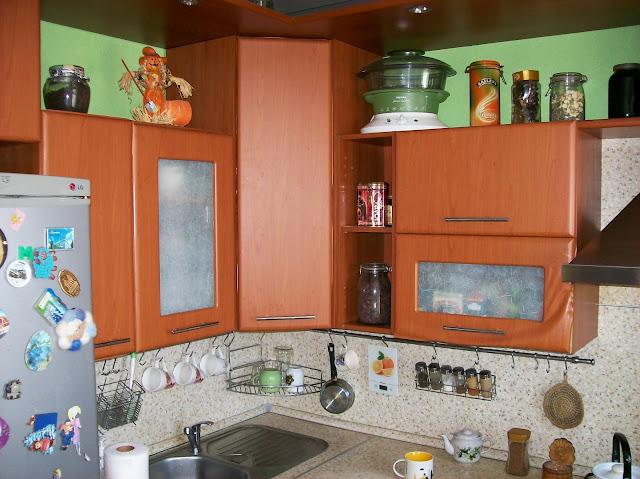 переделка кухни: зелёный цвет стен тоже буду перекрашивать...
