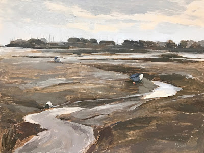 #161 'Langstone Harbour' 9×12″