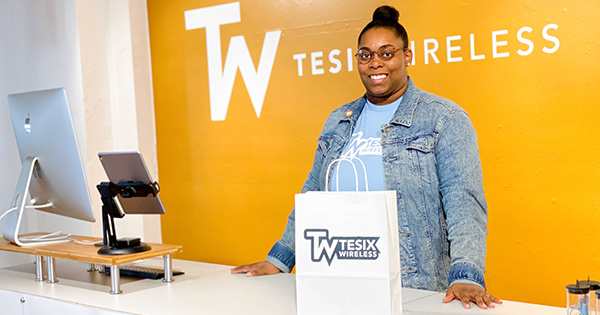 Chaymeriyia Moncrief, founder of Tesix Wireless