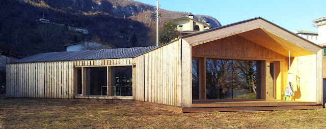 Prima Casa Passiva esterno in Larice Europeo