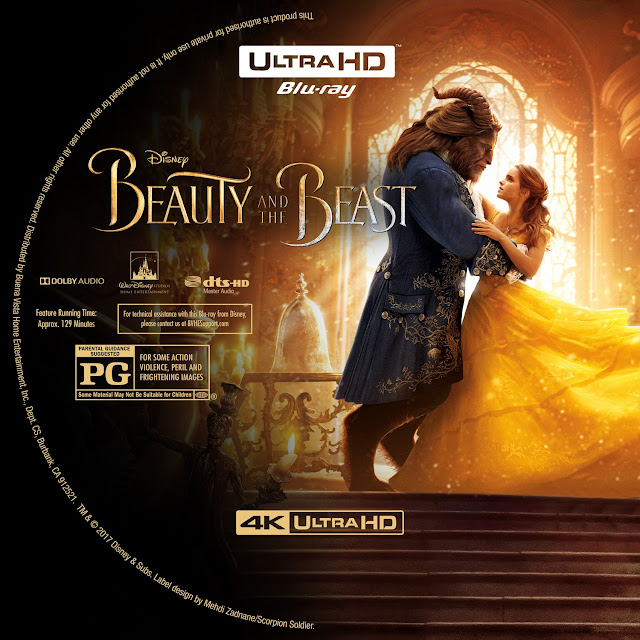 Beauty And The Beast 4K Bluray Label