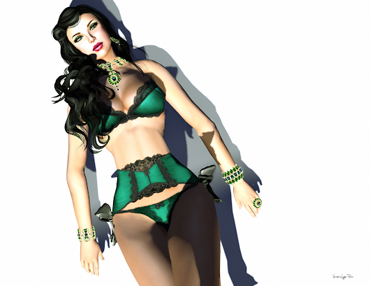 ~Blacklace~ Briony: Emerald
