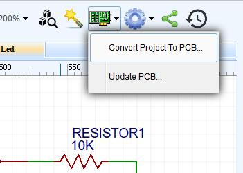 Menu PCB