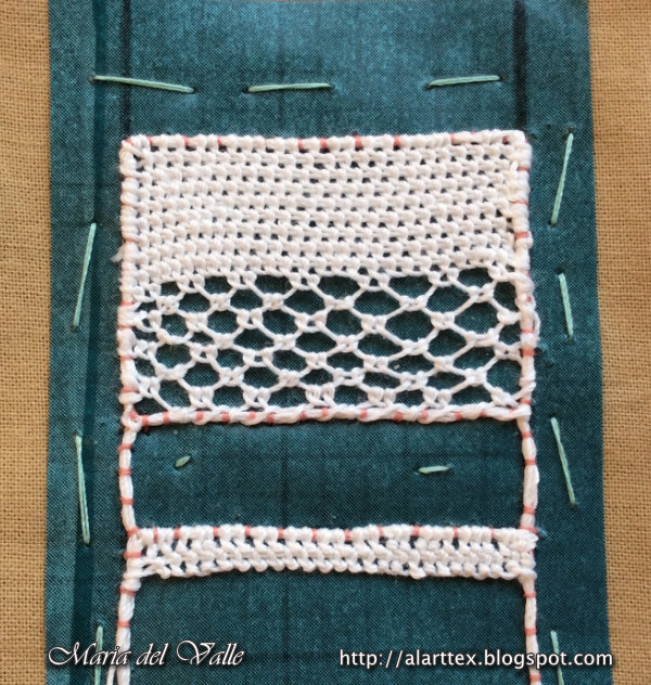 Needle Lace Tutorial - Bookmark Sampler 1 - 2
