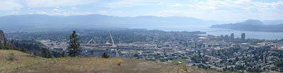 Panorama of Kelowna British Columbia